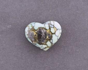 Tree Frog Variscite Heart Cabochon