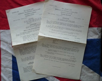 1956 Royal NZ Regular Army. Exam Papers for Promotion from Lieutenant to Captain, Military Issue
