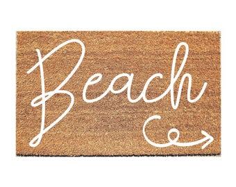 Beach Doormat -  Welcome Mat - Hello Doormat - Doormats - Doormat Humor - Unique Doormat - Cute Doormat - Door Mat - Beach House Decor - Rug