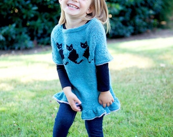 Itty Bitty Kitty Tunic- 3 colors/4 sizes
