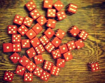 Collection of Vintage Red Dice
