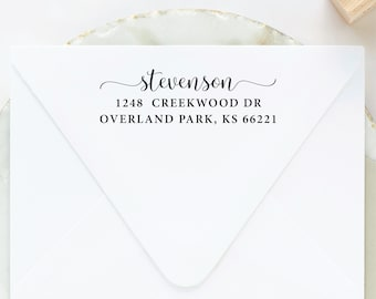 Return Address Stamp, Custom Stamp, Wooden Stamp, Wood Address Stamp, Personalized Address Stamp, Wedding Stamp, Stamp with Handle, Ink Pad