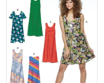 McCall's Sewing Pattern M7592 Misses' Pullover Bias-Cut Tank Dresses