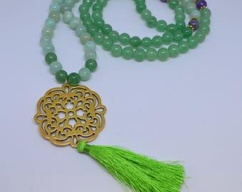 Green Aventurine Mala Necklace