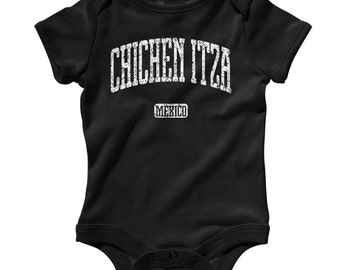 Baby Chichen Itza Mexico Romper - Infant One Piece - NB 6m 12m 18m 24m - Chichen Itza Baby, Yucatan, Mexico, Maya, Mayan - 3 Colors