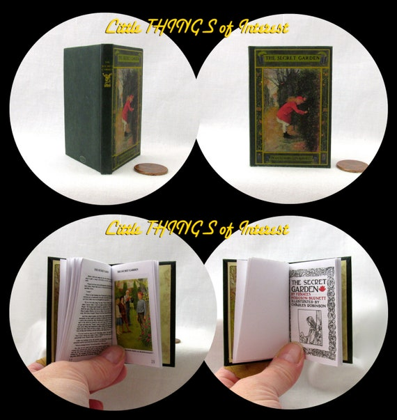 The SECRET GARDEN Illustrated Book in 1:3 Scale Readable Book American Girl Doll 18 inch AG Doll 1/3 Scale