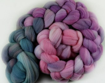 Greyed Orchid 2 merino wool top for spinning and felting - 4.1 ounces