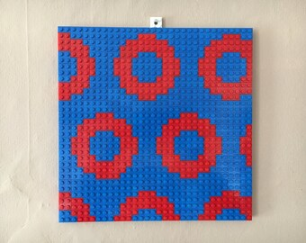 Phish Fishman Donut LEGO Mosaic