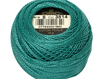 DMC 3814 Perle Cotton Thread | Size 8 | Aqua Marine