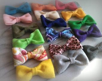 Felt Bow Hair Clip Girls Accessory -Choose 4 colors-
