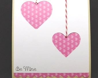 Cut out hearts Valentine's Day Card