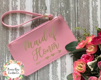 Personalized Bridal Party Clutch Wristlet - Bridal Party Gifts