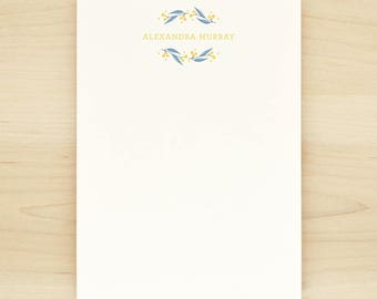 FROLIC [CHAMBRAY COLORWAY] Personalized Notepad - Flower Floral Pretty