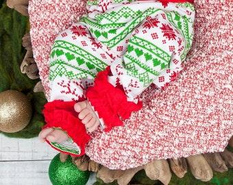 Baby Christmas Leggings - Fair Isle - Christmas Leggings - Girl Toddler