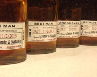 Custom Wedding Groomsman Liquor Labels for your Best Man and Groomsman Gifts