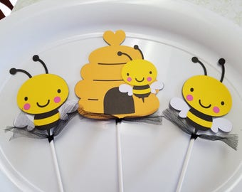 Bumble bee centerpiece, bumble bee decorations, bumblee bee party, bee centerpiece, bee babyy shower