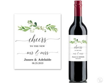 Wine Bottle Labels Etsy - Make your own wine label template