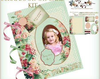 Spring Scrapbook or Card Making Elements