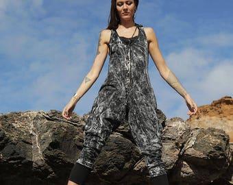 Long Janes - Drk Stone, Jumpsuit, Womens Onesie, Womens Playsuit, Black Jumpsuit, Black Overalls, Summer Jumpsuit, Womens Romper.