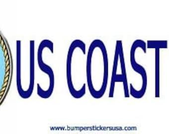 US  Coast Guard bumpersticker. magnetic bumpersticker, magnetic bumper sticker, magnets, bumperstickers