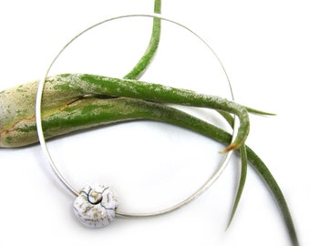 Naga Shell Silver Bangle Bracelet