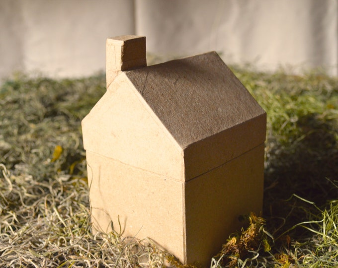 Small Paper Mache House, You Imagine, You Design, Craft Supplies