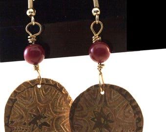 Bohemian medallion earrings