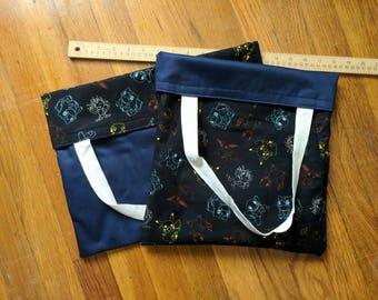 POKEMON,  Reversible Tote Bag, Wide Bag, Pokemon Tote