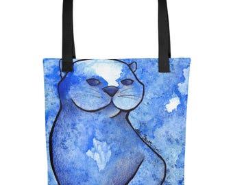Otter Galaxy Watercolor - Tote Bag