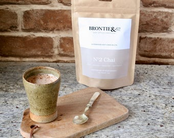 No.2 Chai Vegan Hot Chocolate//Super food cacao//Luxury//Raw Cacao//all natural fair trade and organic ingredients//no refined sugar