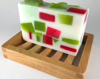 Apple Sage soap, shea butter soap, handmade natural soap, glycerin soap, homemade vegan soap, detergent free, apple scented, soap bar gift