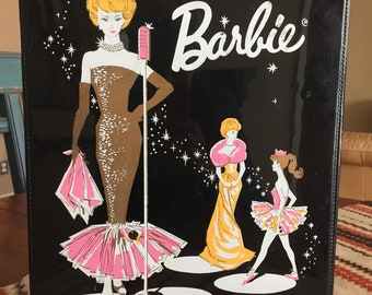 Vintage Barbie with Case, Barbie and Clothing