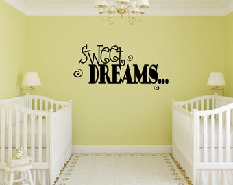 Sweet Dreams Decal Nursery, Children, Wall Decal - Great For Home, Bedroom and Living Room Decor