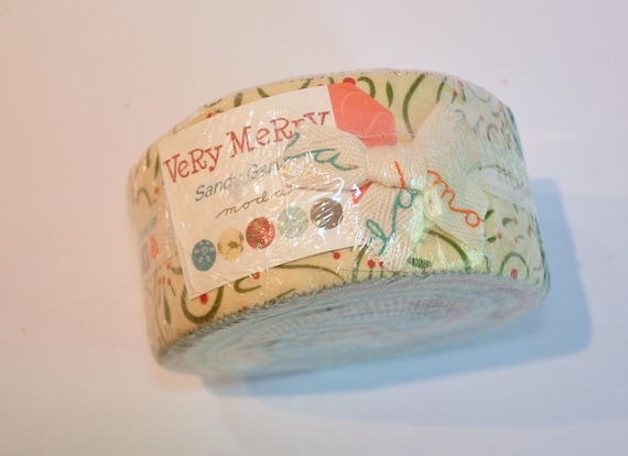 Jelly Roll Very Merry By Sandy Gervais Of Moda Quilt Fabric