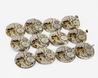 antique watches steampunk decor repair supply style watch clock cufflinks decorative findings rare watch time material for cufflinks metal