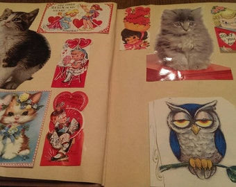 Connie's Vintage Scrapbook full of Old Greeting Cards & Valentines