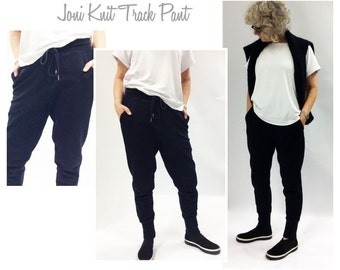 Joni Knit Track Pant // Sizes 10, 12 & 14 // PDF Women's Sewing Pattern for Instant Download