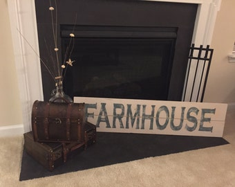 Farmhouse Sign | Large Wooden Sign