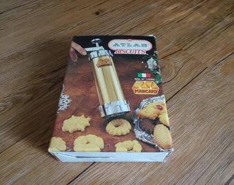 Vintage Atlas Marcato Biscuits Cookie Maker Press | Cookie Press | Pastry Tool | Vintage Bakery | Sugar Cookies | Pastry Filler | Bismarks