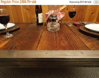 Limited Time Sale 10% OFF Authentic Industrial Dining Table, Antique Barn Wood, Raw Steel Edge, Hairpin legs, Quality, Character, Customizab