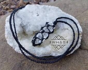 Brazilian Rough Quartz Point Necklace, Raw Clear Quartz Jewelry, Healing Crystal Jewelry, Healing Crystal Necklace, Mineral Necklace