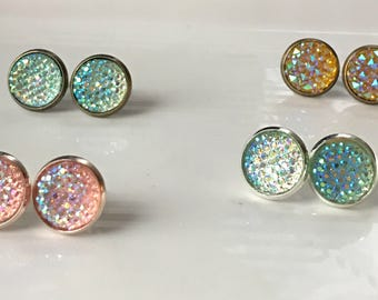 Earrings - Iridescent Crystals