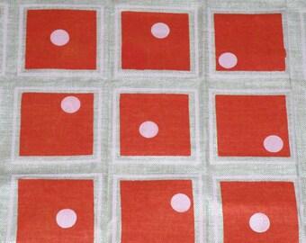 Mid Century Modern Linen Fabric 50 X 55