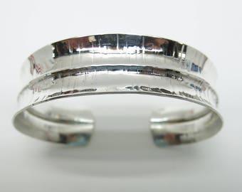 Silver Fold Formed Cuff, Silver Cuff, Silver Anticlastic Fold Formed Cuff, Fold Formed Cuff, Statement Bracelet, Sterling Silver Bracelet