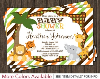 Safari Baby Shower Invitation - Jungle