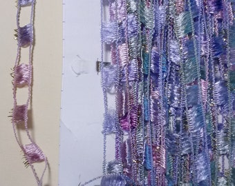 5 Yards Ladder Trim in purples, pinks and greens.