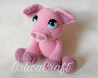 PATTERN - Penny - The Adorable Pig - crochet cute amigurumi plushie toy, written PDF by OrlicaCraft