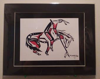 End Of The Trail Native American Coastal Salish Art version (print)