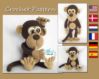 Amigurumi Pattern, Monkey Crochet Pattern, Amigurumi Animal, CP-147