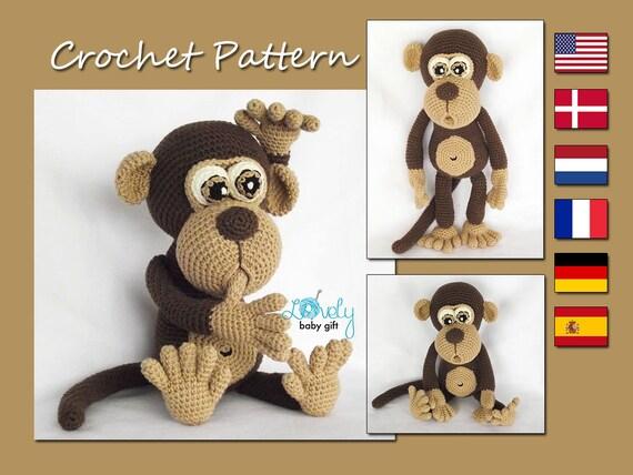 Amigurumi Pattern Monkey Crochet Pattern Amigurumi Animal